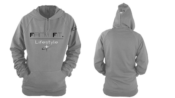 Faith Fit. Traditional-Hoodie / 100% poly - Grey-WOMENS