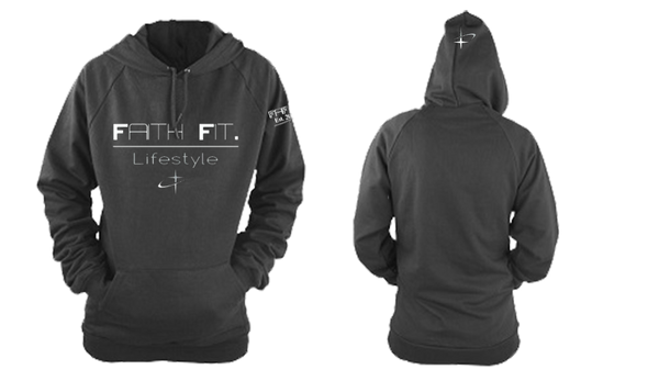 Faith Fit. Traditional-Hoodie / 100% poly - Black-MENS