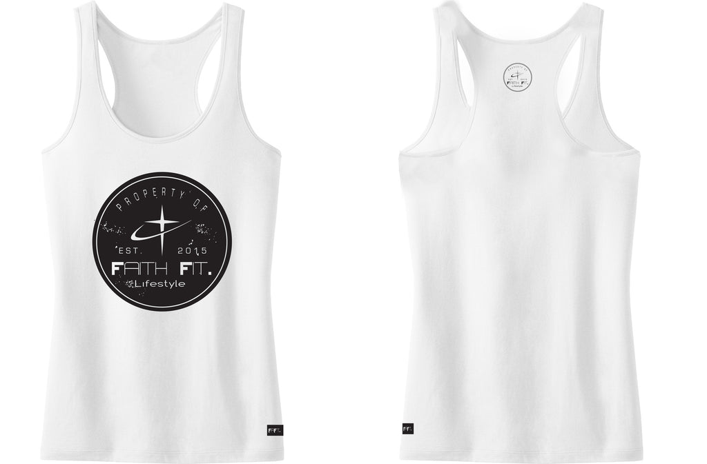 Faith Fit. Property2. Tank / Womens. White