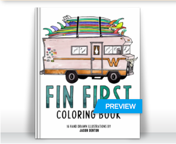 Fin First Coloring Book