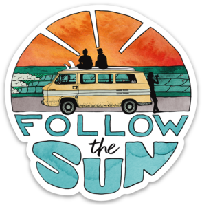 Follow The Sun - Sticker