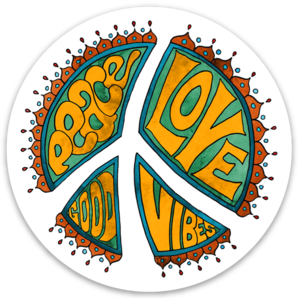 Peace, Love, Good Vibes - Sticker