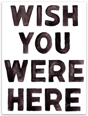 Wish You Were Here - Sticker
