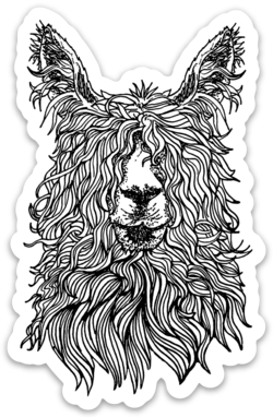 Alpaca- Sticker