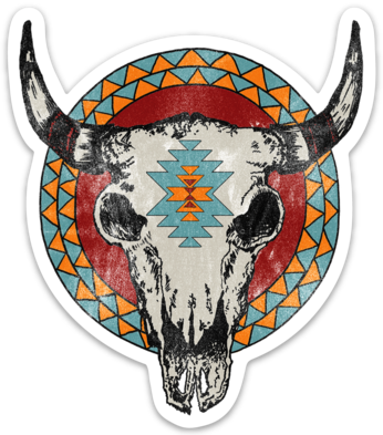 Bison Skull - Sticker