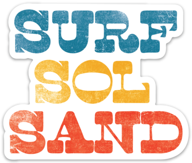 Surf Sol Sand- Sticker