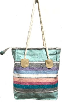 Rope Handle Falza Blanket Tote Bag
