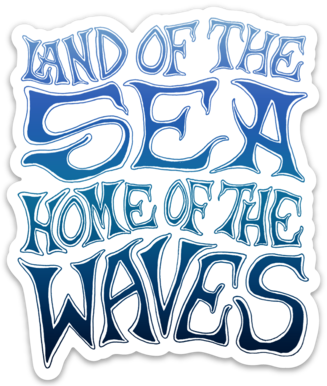 Land of the Sea- Sticker