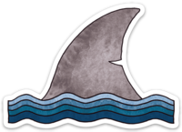 Shark Fin - Sticker