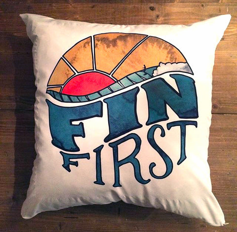 Fin Wave - pillow cover