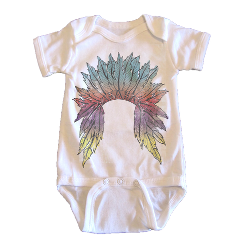 Watercolor Headdress - onesie