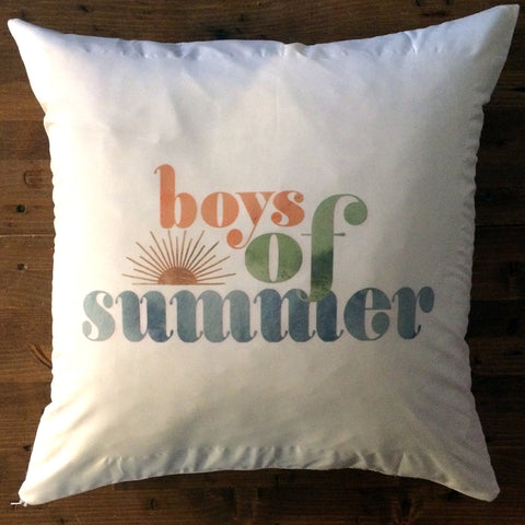 Boys of Summer - pillow cover