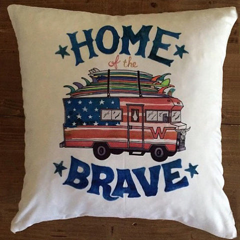 Home of the Brave - pillow cover