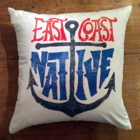 East Coast Native - pillow cover