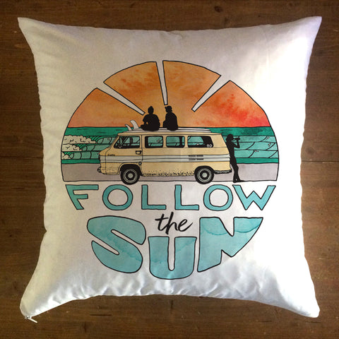 Follow The Sun - pillow cover