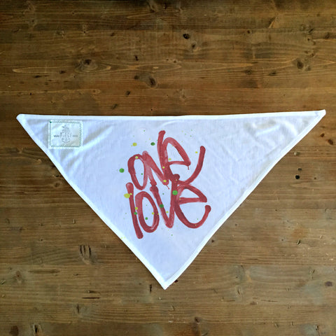 One Love - Dog Bandana