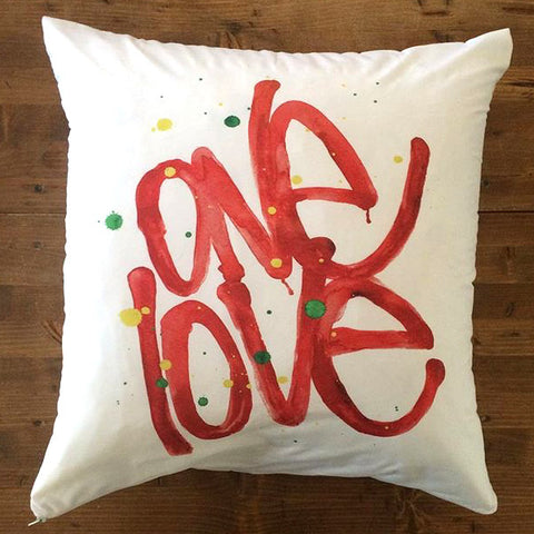 One Love - pillow cover
