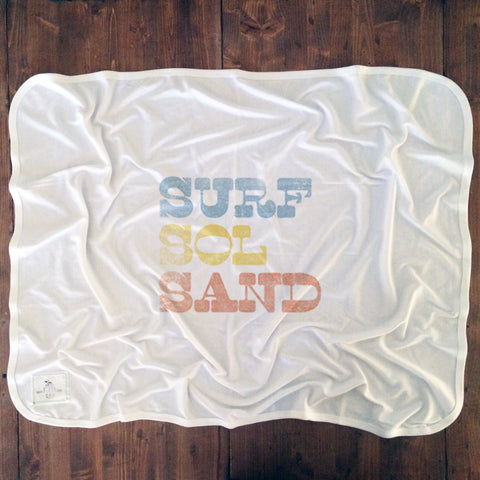 Surf Sol Sand - Baby Blankets