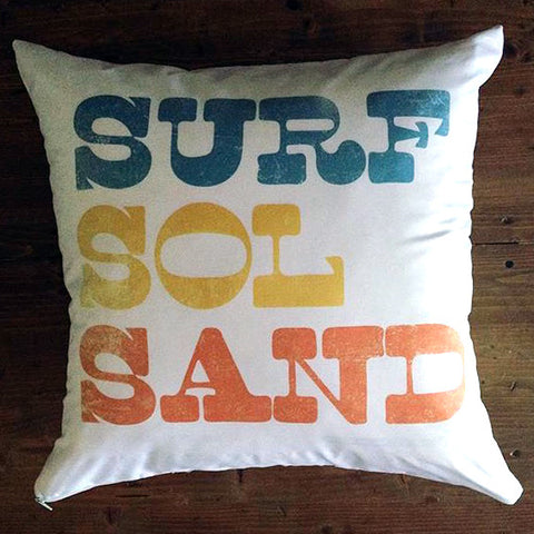 Surf Sol Sand - pillow cover