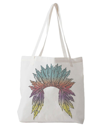 Watercolor Headdress - tote