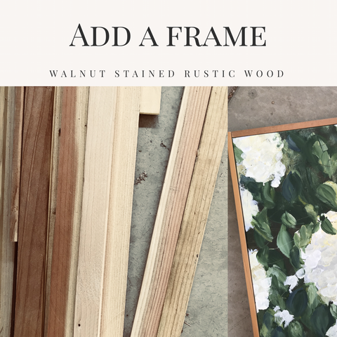 Add a rustic frame