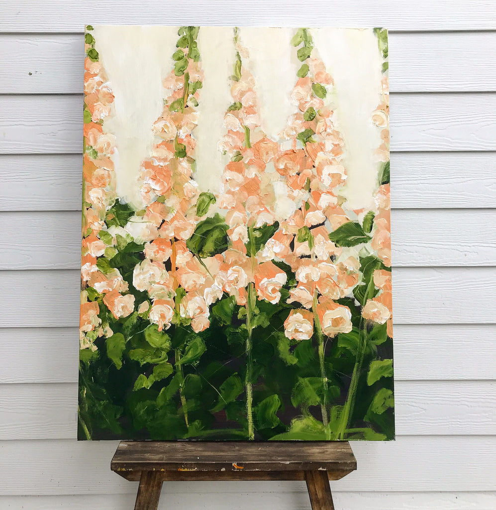 peach foxgloves