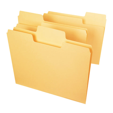 Smead SuperTab® File Folder, Oversized 1/3 Cut Tab, Letter Size, Goldenrod, 3 per Pack (11822)