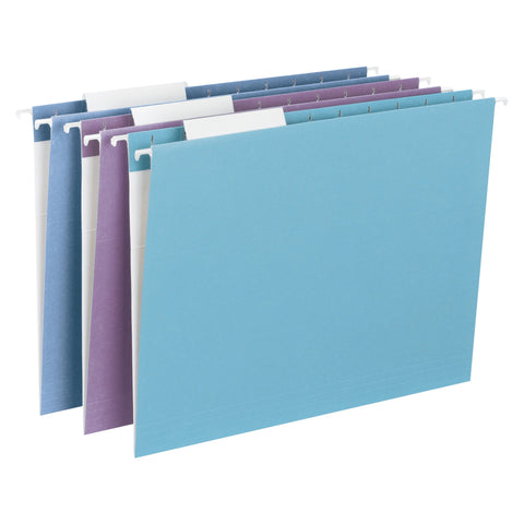 Smead Hanging File Folder, 1/3 Cut Tab, Letter Size, Assorted Colors, 12 per Pack (64091)