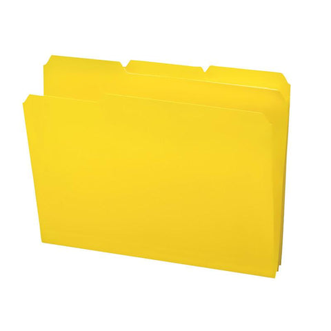 Smead Poly File Folder, 1/3-Cut Tab, Letter Size, Yellow, 24 per Box (10504)