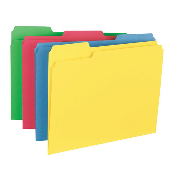 Smead File Folder, 1/3-Cut Tab, Letter Size, Assorted Colors, 24 per Pack (11938