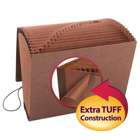 Smead TUFF® Expanding File, Alphabetic (A-Z), 21 Pockets, Flap and Elastic Cord