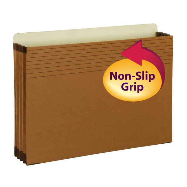 "Smead Full-Height Pocket with Easy Grip®, Straight-Cut Tab, 3-1/2"" Expansion, Legal Size, Redrope, 25 per Box (74282)"