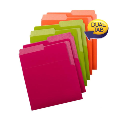 Smead Organized Up® Heavyweight Vertical File Folders, Dual Tabs, Letter Size, B