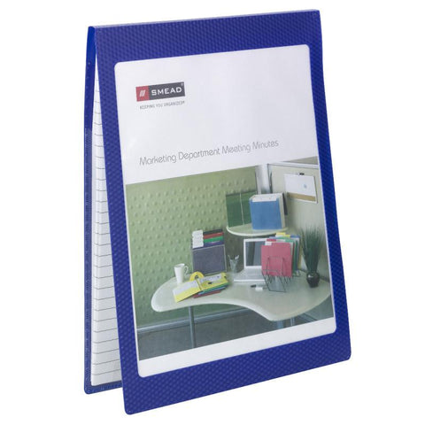 Smead Organized Up® NoteMate™ Pad Folio, Clear Poly Front, Dark Blue,  2 per Pac