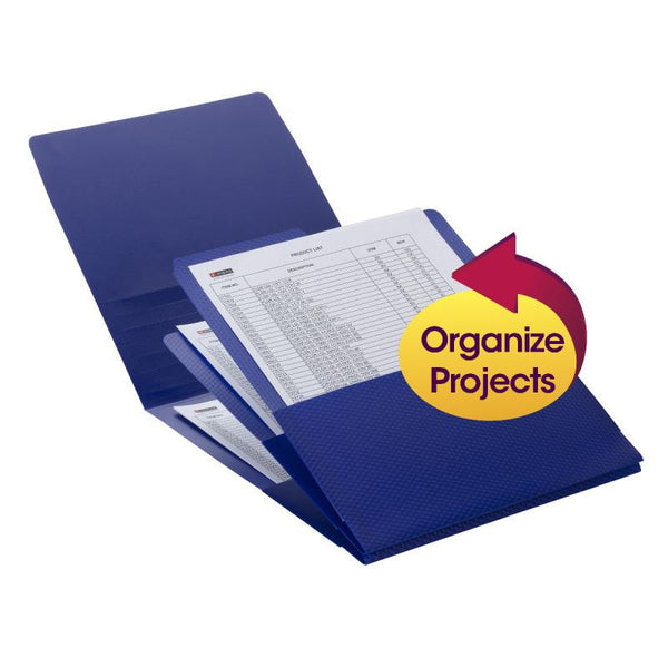 Smead Organized Up® Poly Stackit® Organizers, Letter Size, Dark Blue, 2 per Pack