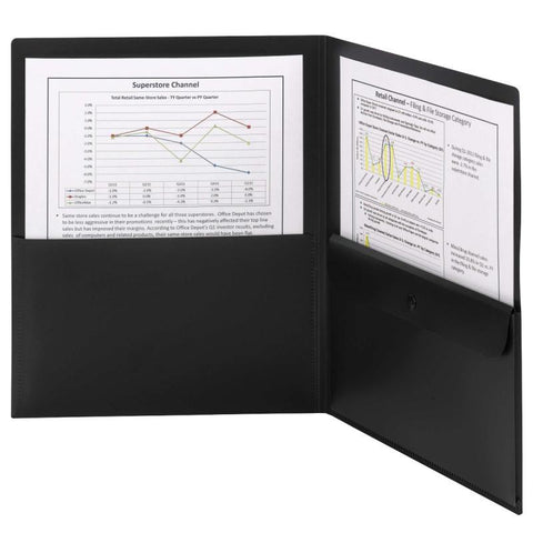Smead Poly Two-Pocket Folder with Security Pocket, Holds up to 100 Sheets, Lette