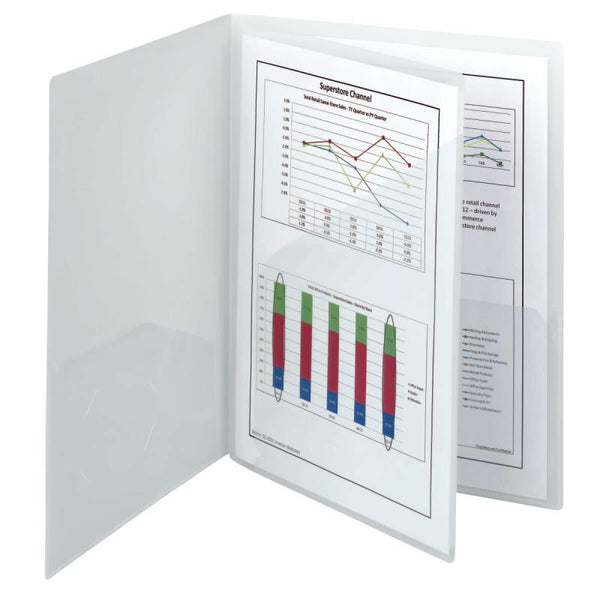 Smead Poly Four-Pocket Folder, Holds up to 100 Sheets, Letter Size, Oyster, 5 pe
