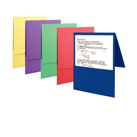 Carton of 50 Smead Backpack File Folders - Textured Stock, Letter Size, Assorted Colors (87843)