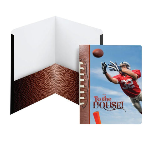 Carton of 50 Smead Raditude™ Collection Two-Pocket File Folder, Letter Size, To the House (Football) (87903)
