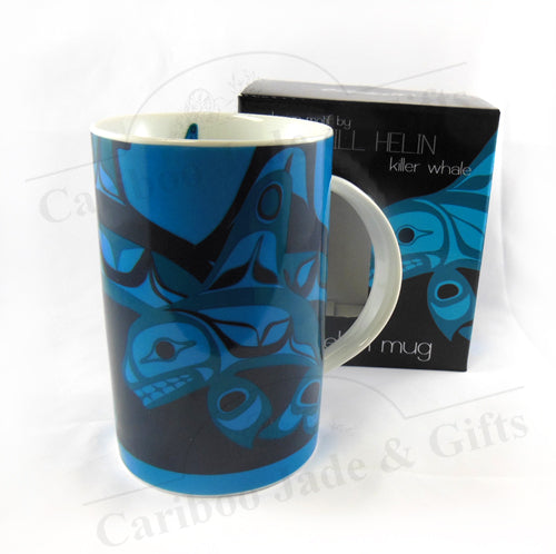 Bill Helin Killer Whale Porcelain Mug