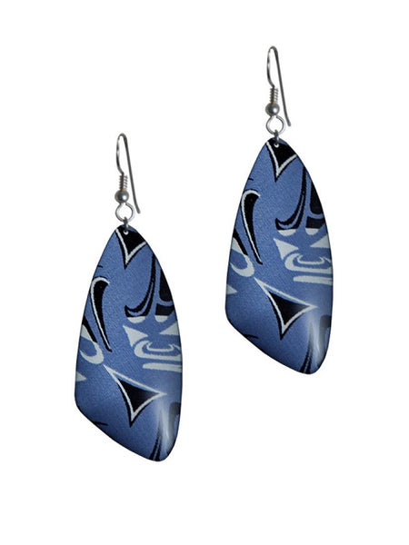Corrine Hunt Silk Inspiration Triangle Earrings Blue