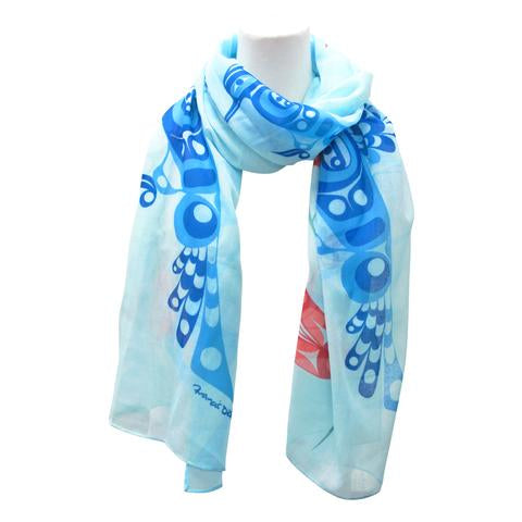 Francis Dick Peace, Love and Happiness Artist Scarf