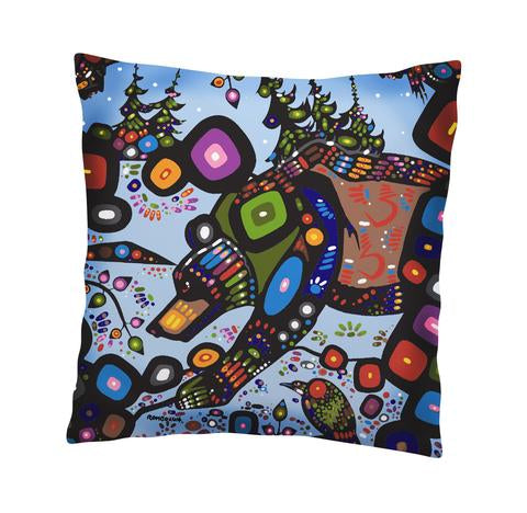 John Rombough Bear Cushion