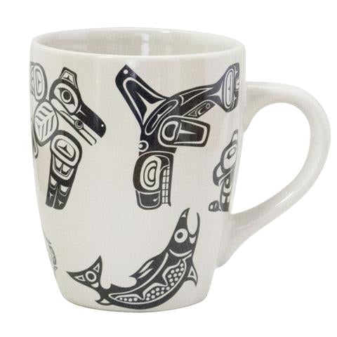 Native Icons Beige Stoneware Snug Mug
