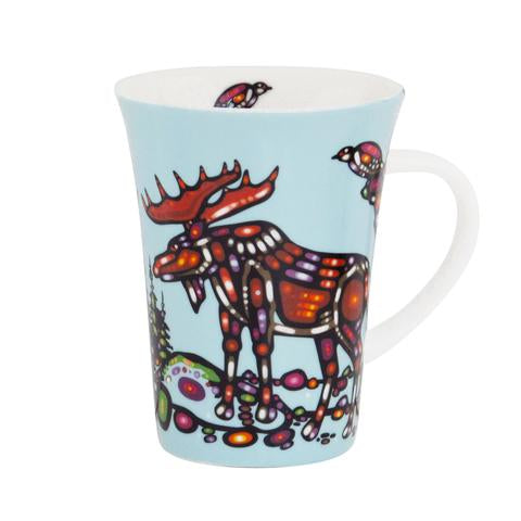 John Rombough Moose Porcelain Mug