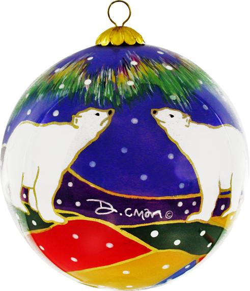 Dawn Oman Sky Watchers Glass Ornament