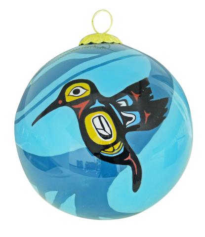 Hummingbird' Glass Ornament
