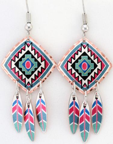 Indigenous Design Dangle Earrings