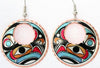 Colourful NW Indigenous Design Earrings