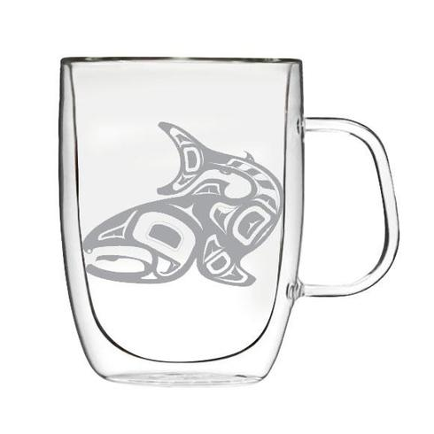 Jamie Sterritt Salmon Double-Wall Glass Mug